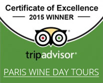 Paris Wine Day Tours Certificate of Excellence